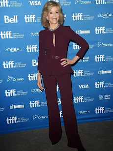 Jane Fonda, conjunto by Elie Saab. Festival de Cine de Toronto 2014. 8/09/2014