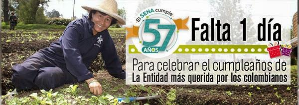 Falta un día para celebrar el cumpleaños de la entidad más querida por los colombianos. SENA.