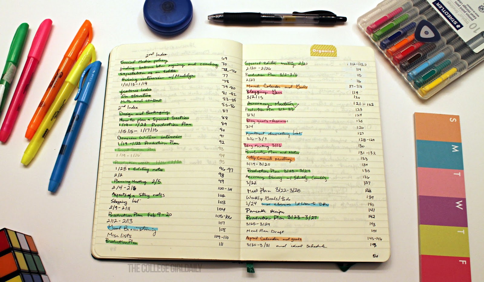 How to color code your bullet journal oh hey hannah for Color coding planner