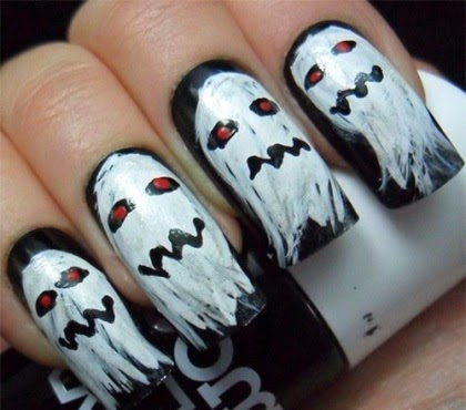 Scary Nails Art Stickers