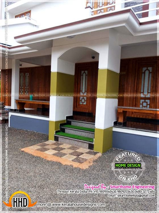 contemporary kerala mix house at malapuram