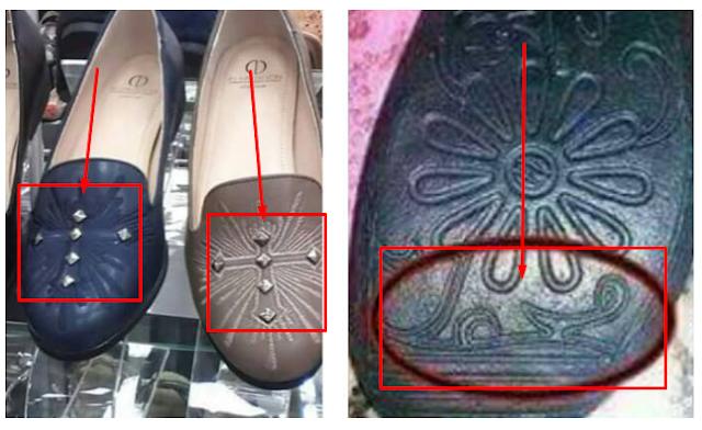 """Beredar Sepatu Wanita """"Atasnya Salib dan Yang Parahnya Lagi Alas Sepatu Itu Lafadz Nabi Muhammad"""""""