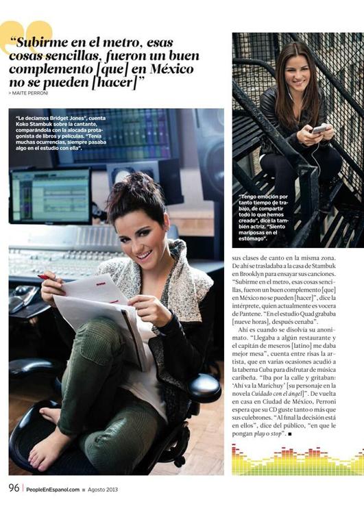 Maite Perroni for People en Español August 2013