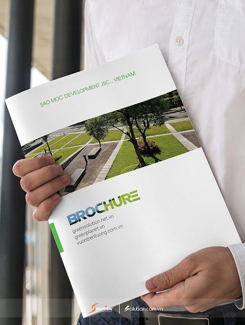 Mẫu thiết kế catalogue công ty Green Solution