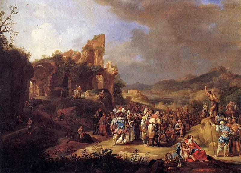 Predicación de Juan el Bautista del artista holandés  Bartolomeo Breenbergh