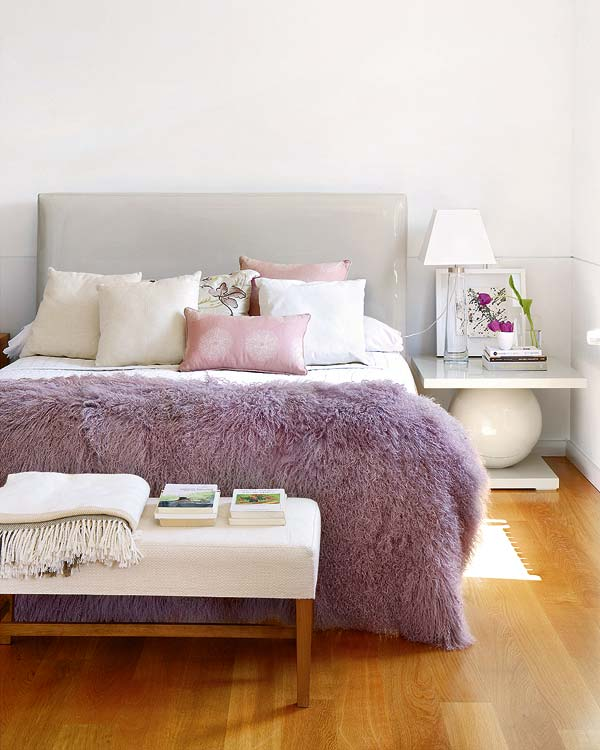 Using color and textures to create feminine bedrooms for Modern feminine bedroom designs