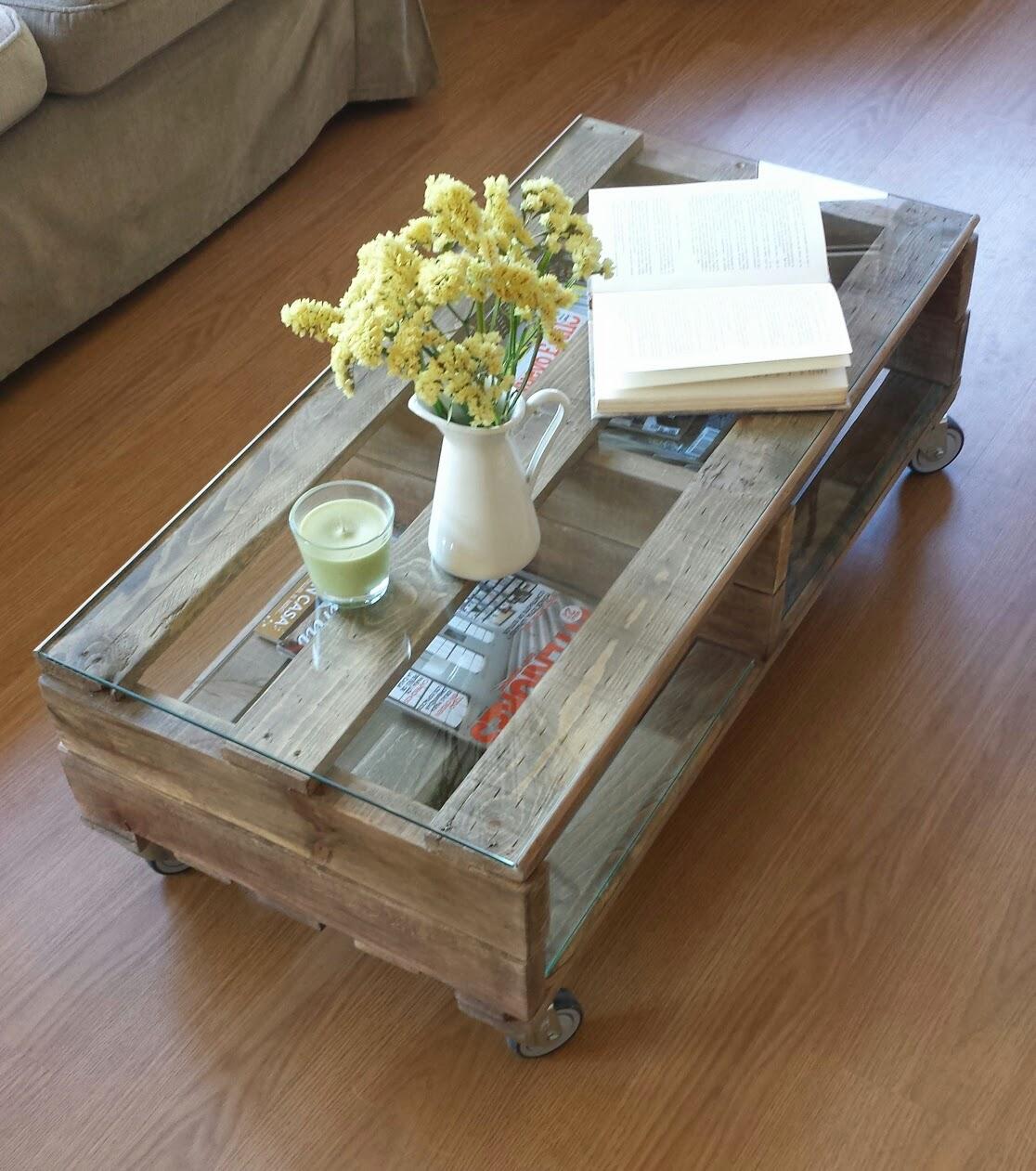 Mibarquitodepalet mesa con palets y un poco de inspiraci n - Mesa de centro de palet ...