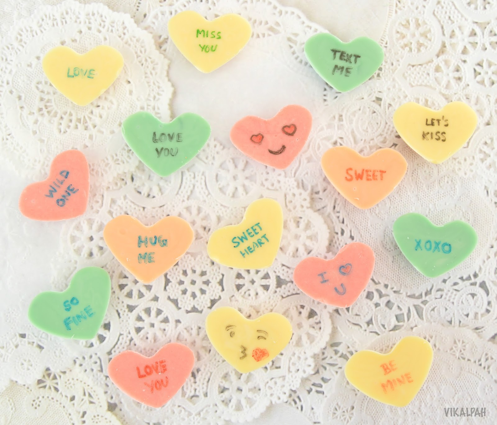 Vikalpah: DIY Conversation Hearts Chocolate
