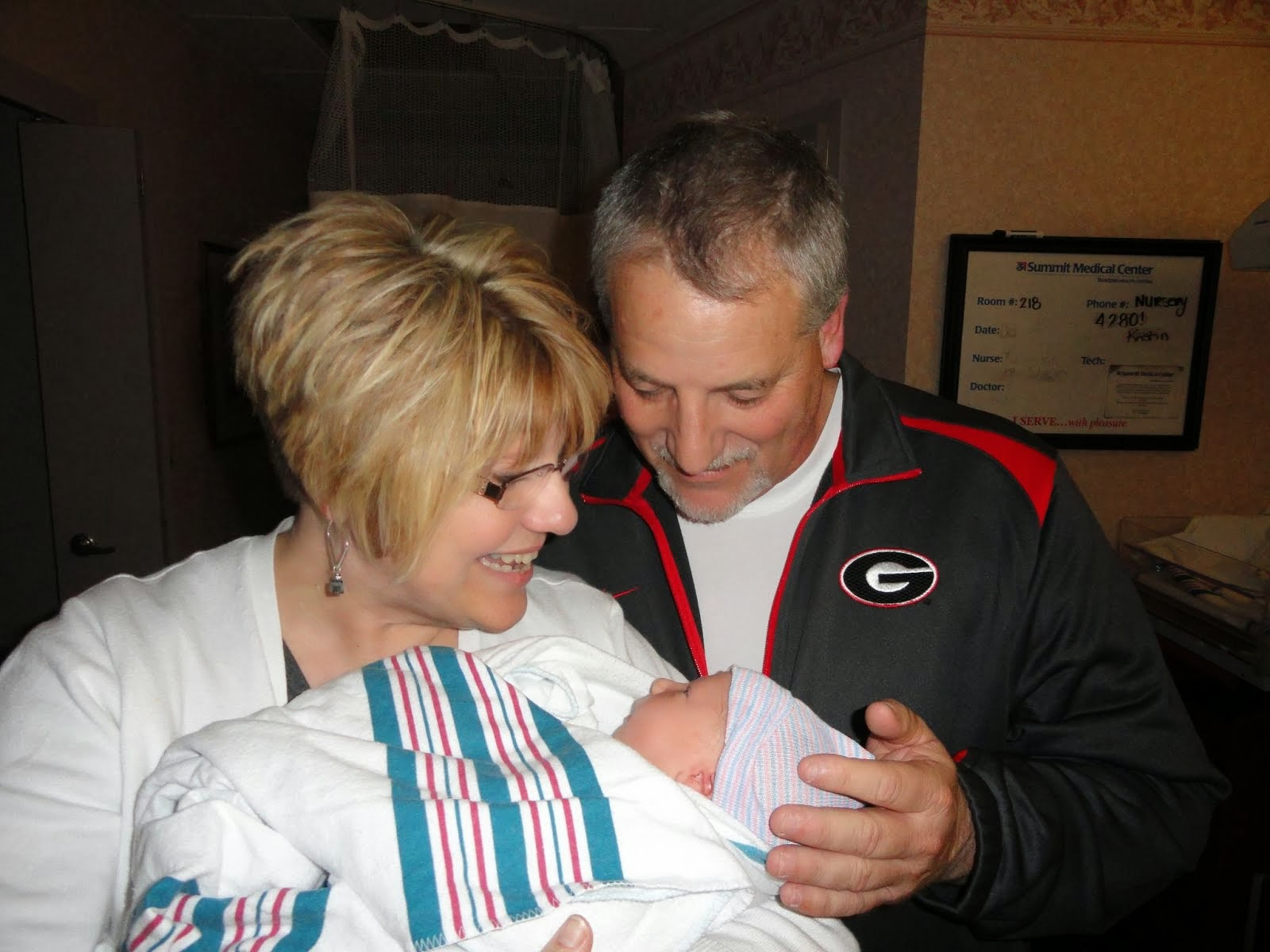 Me and Mr. H and First Grandchild