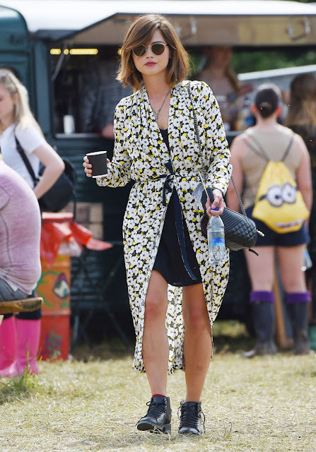 Actress @ Jenna Coleman at the Glastonbury festival in England 2015
