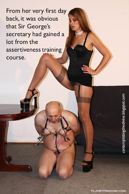 Domme secretary dumb boss