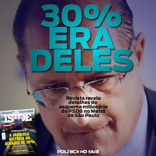 Propina tucana desviada do Metrô-SP é de R$ 1,925 BILHÃO, equivalente à 275 mensalões