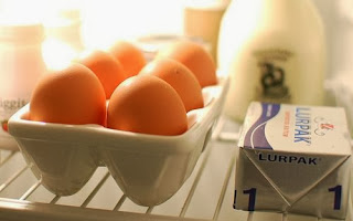 Eggs should go in your refrigerator