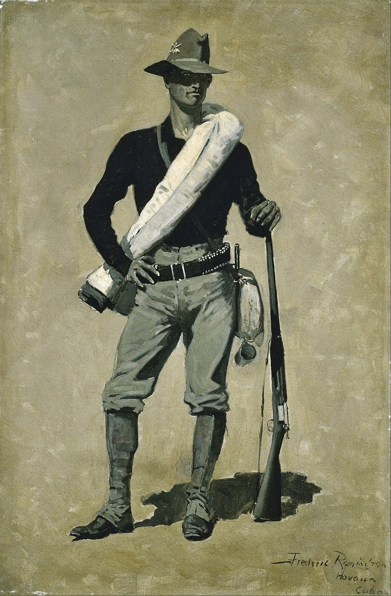 art artists frederic remington part  1897 1901 u s ier spanish american war oil on canvas en grisaille 91 4 x 61 cm museum of fine arts houston texas