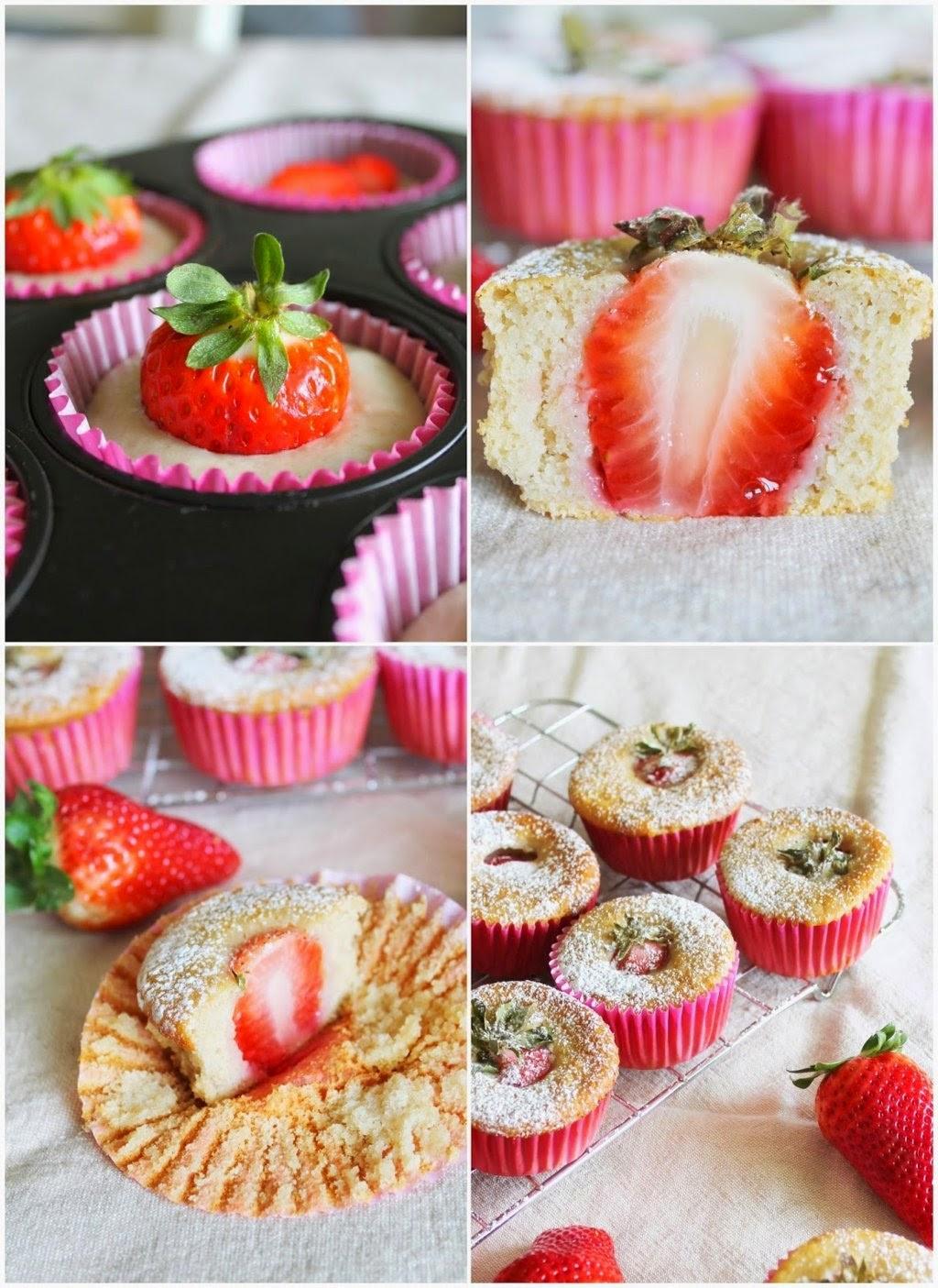 muffin yogurt e fragole
