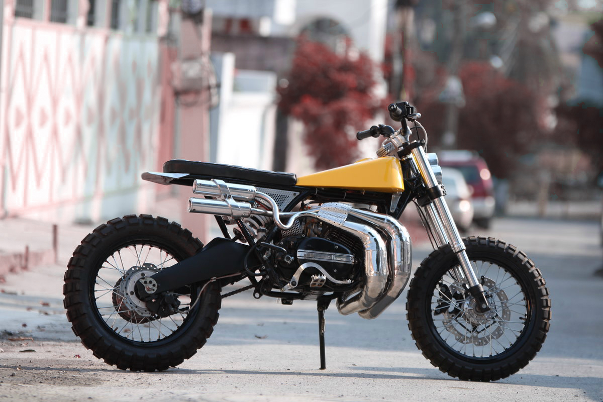 Rd350 scram by moto exotica inazuma caf racer for Yamaha 350cc motorcycles