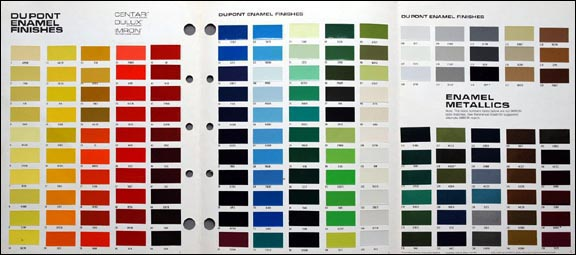 Car paint colour selector