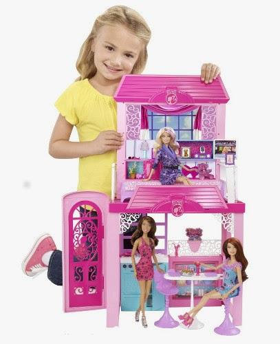 JUGUETES - BARBIE  Casa de vacaciones en la playa + muñeca  Producto Oficial | Mattel Y4118 | A partir de 3 años