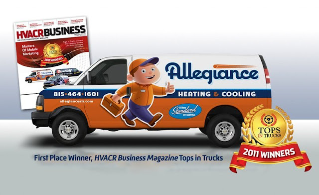 heating and cooling truck wrap