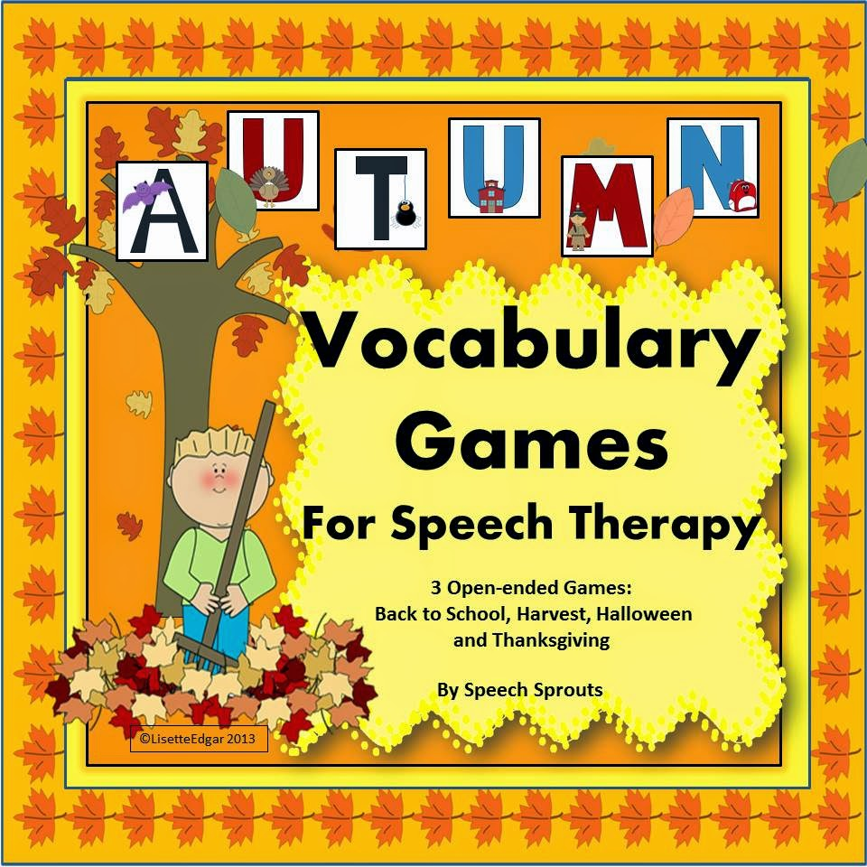 http://www.teacherspayteachers.com/Product/Autumn-Speech-Vocabulary-Games-Fall-Back-to-School-Halloween-Thanksgiving-799131