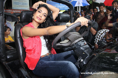 Bollywood's New Girl Sarah Jane Dias Promoting on the Movie taxi
