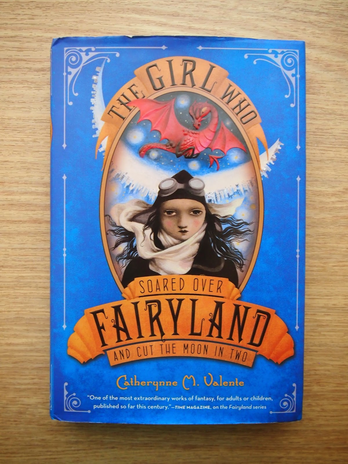 an image of the cover of the girl who soared over fairyland and cut the moon in two