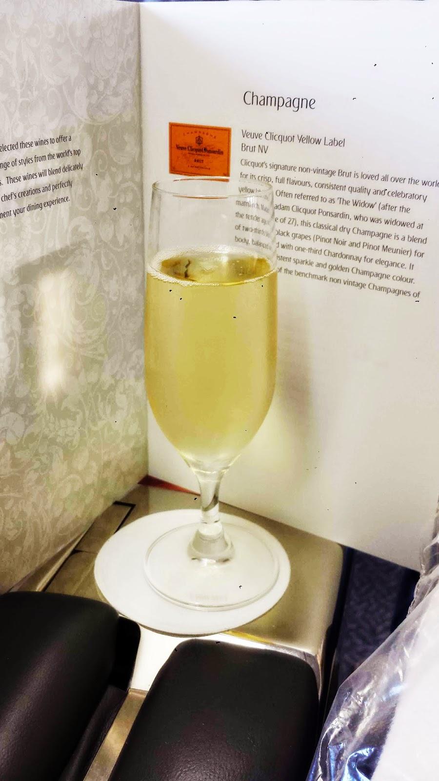Free flowing Veuve Clicquot