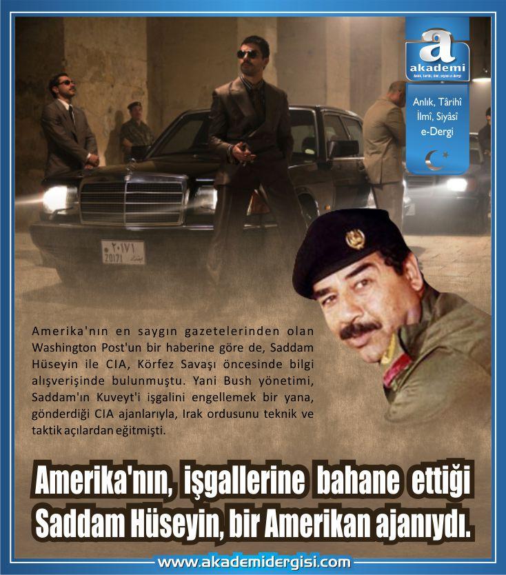 Amerika'nın, işgallerine bahane ettiği Saddam Hüseyin, bir Amerikan ajanıydı