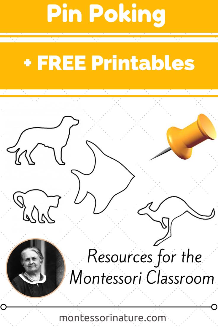 Pin Poking Activities + Free Printables. - Montessori Nature