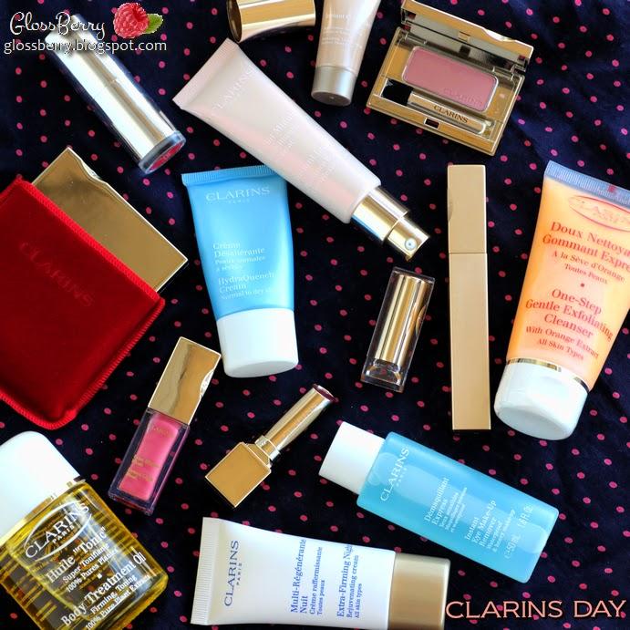 קלרינס clarins day מוצרים מומלצים מה לקנות טיפוח איפור קרמים שפתון צללית Glossberry גלוסברי בלוג איפור וטיפוח