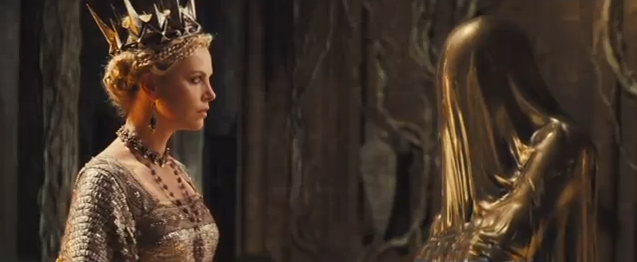 snow white and the huntsman the queen and the mirror