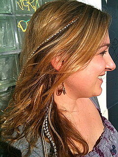 The glitter blog killer trend rooster feather hair extensions many celebrities everyone from stephen tyler to megan of nyink to roseanne have been spotted wearing these colorful feather extensions pmusecretfo Image collections