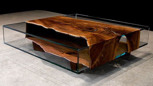 Unique wood and glass furniture designs ayanahouse for Wooden table designs images