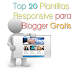 Top 20 Plantillas Responsive para Blogger Gratis