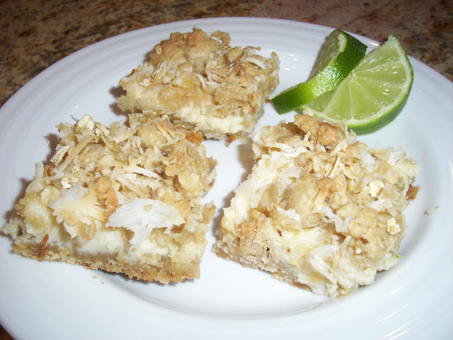 Flavors by Four: Lime & Coconut Crumble Bars