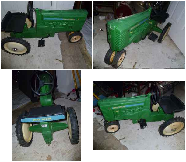 Listed District: $100 - Vintage John Deere Pedal Tractors!