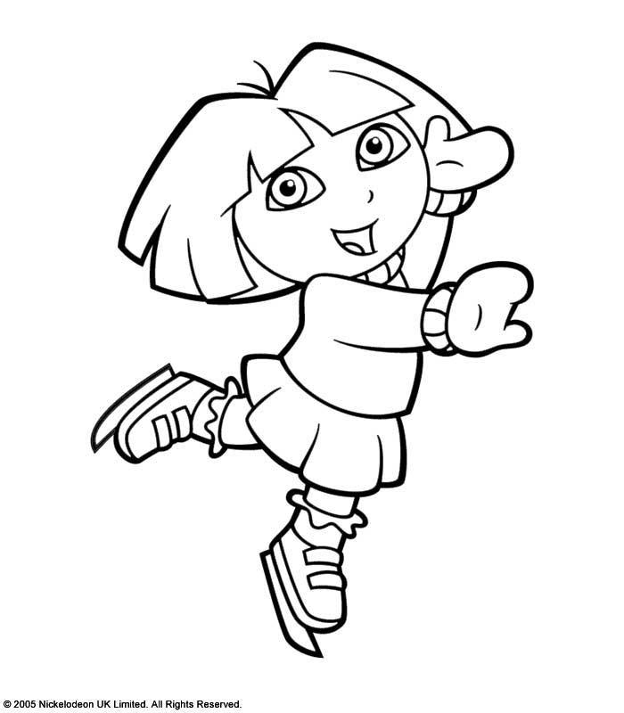 Untuk Mendownload semua Gambar Mewarnai Dora The Explorer, silakan