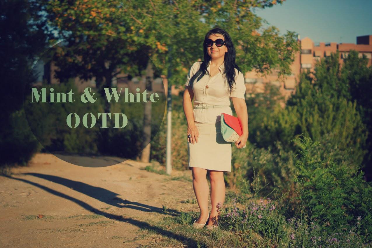 mint+&+white+OOTD
