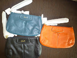 COACH ASHLEY LEATHER LARGE WRISTLET 48103