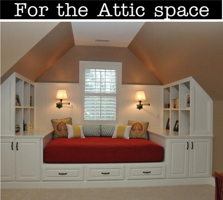 It 39 s written on the wall design your own reading nook for for Attic bedroom storage