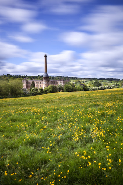 Bliss Tweed Mill at Chipping Norton with buttercups by Martyn Ferry Photography