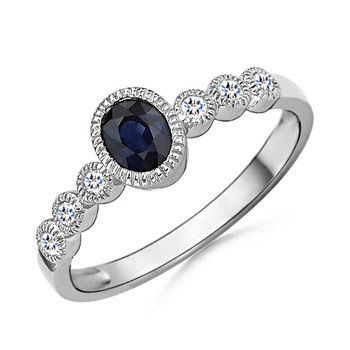 type of ring side stones used in your engagement ring