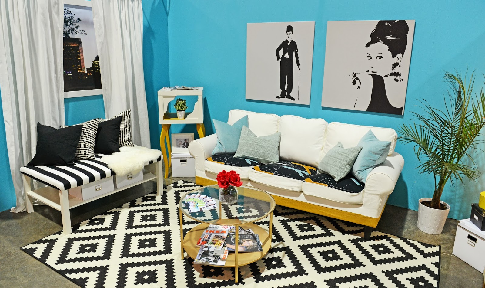 Black and white and teal bedroom - Retro Rewind In The Living Room Marketplace Events Black And Blue Bedroom