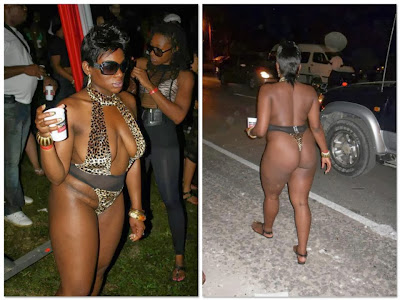 SEE How This Naija Babe Exposed Her Body Completely [PHOTOS]