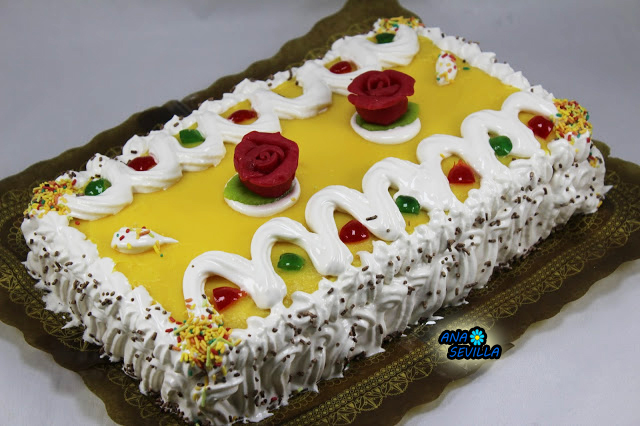 Tarta de yema, bizcocho y hojaldre Ana Sevilla con Thermomix