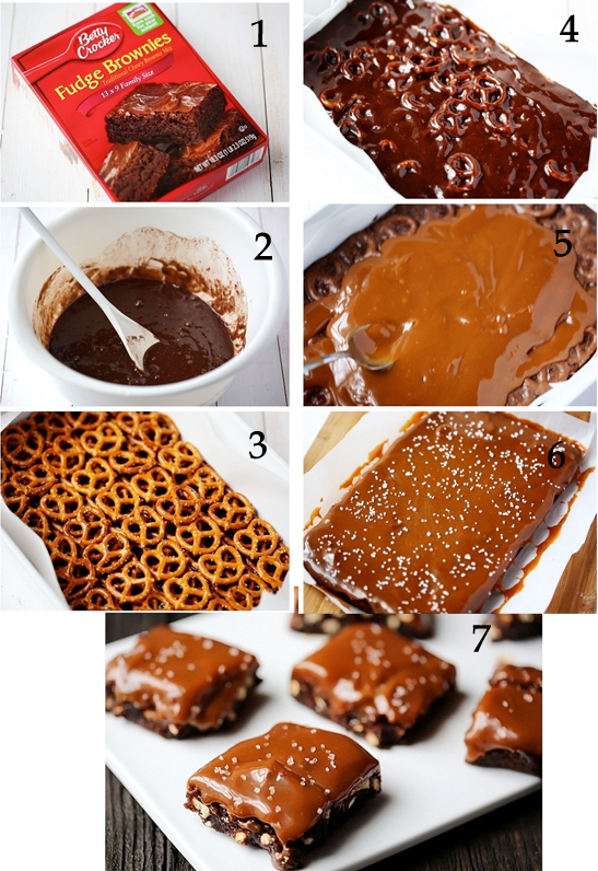 Sweet And Salty Pretzel Caramel Brownies
