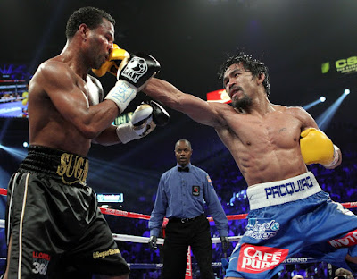 Pacquiao straight right to Mosley
