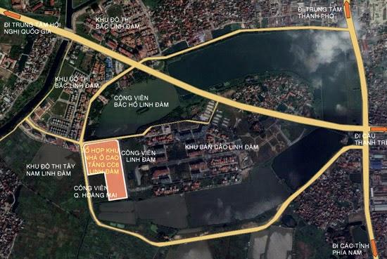 bản đồ chung cư hh4 linh đàm