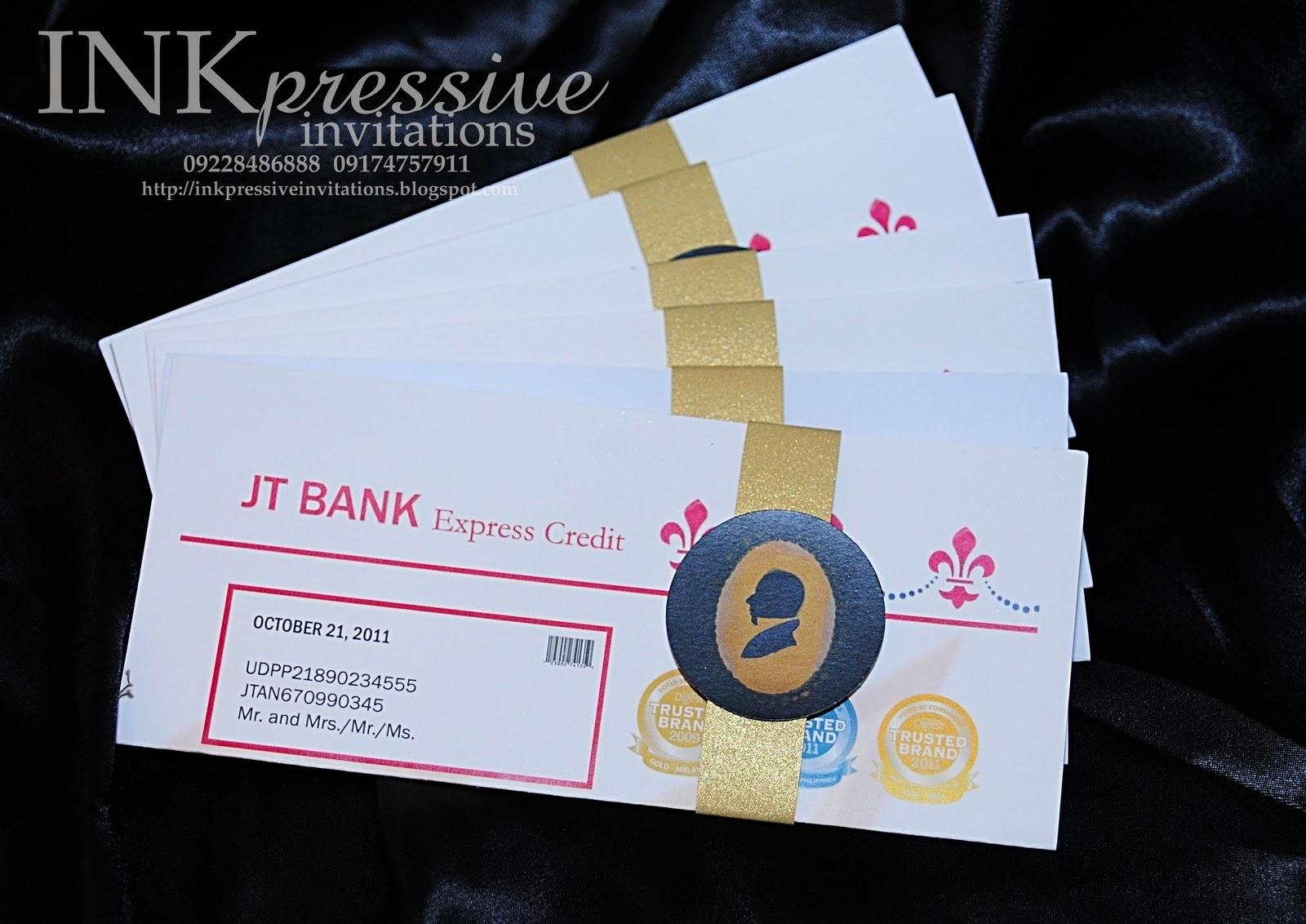 Credit card invitation inkpressive invitations credit card invitation stopboris Gallery
