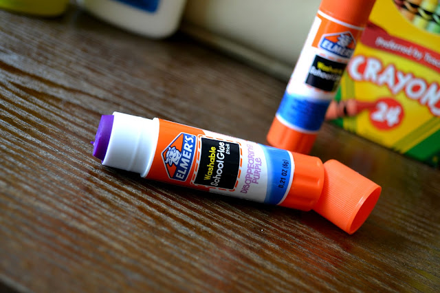#bagitforward #shop #cfk donating school supplies Elmer's disappearing purple glue stick